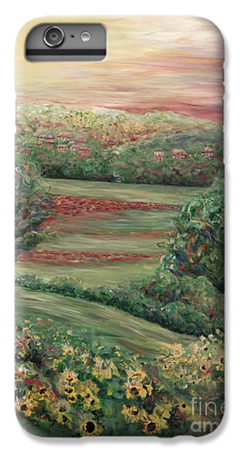 Landscape IPhone 6 Plus Case featuring the painting Summer In Tuscany by Nadine Rippelmeyer