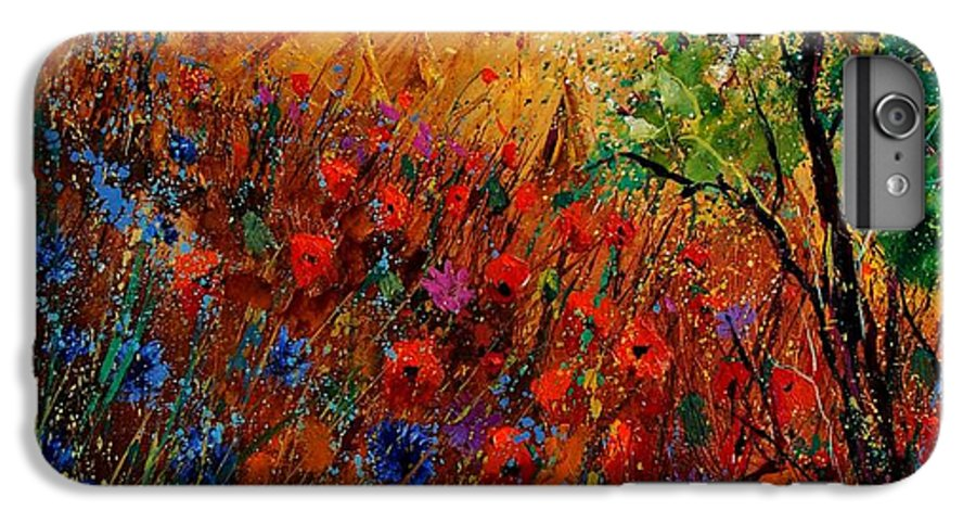 Flowers IPhone 6 Plus Case featuring the painting Summer Landscape With Poppies by Pol Ledent