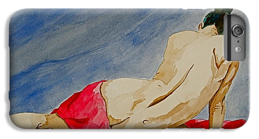 Nudes Red Cloth IPhone 6 Plus Case featuring the painting Summer Morning 2 by Herschel Fall