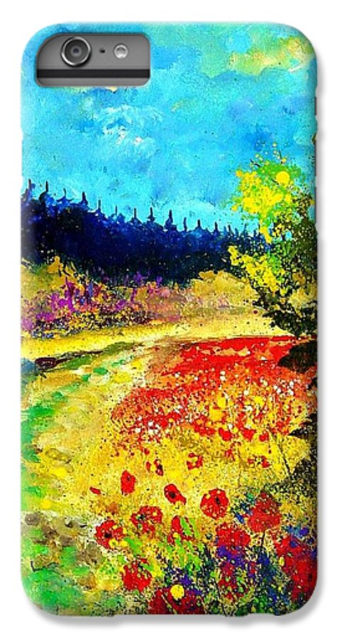Flowers IPhone 6 Plus Case featuring the painting Summer by Pol Ledent