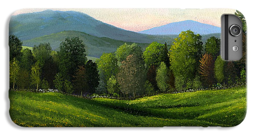 Landscape IPhone 6 Plus Case featuring the painting Summers Ending by Frank Wilson