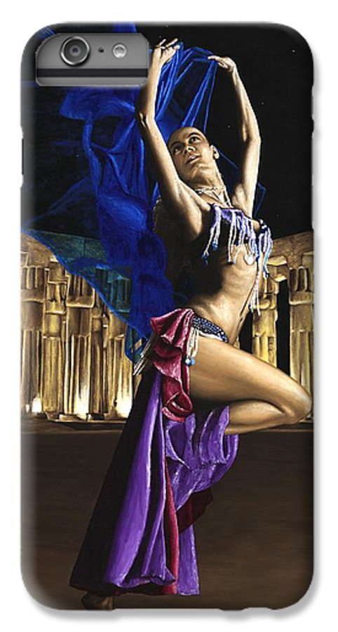Belly IPhone 6 Plus Case featuring the painting Sun Court Dancer by Richard Young