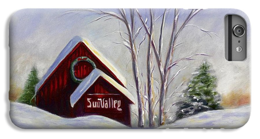 Landscape White IPhone 6 Plus Case featuring the painting Sun Valley 1 by Shannon Grissom