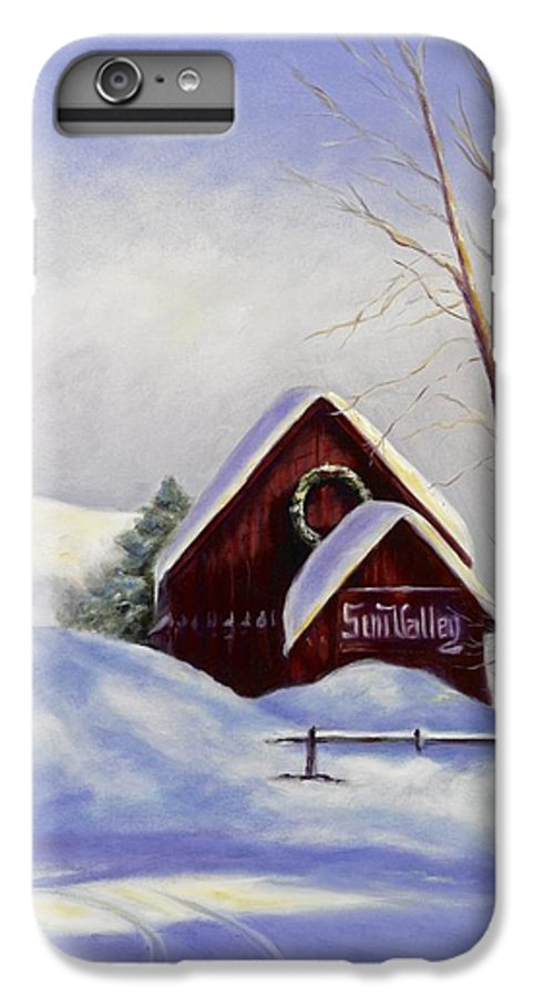 Landscape IPhone 6 Plus Case featuring the painting Sun Valley 2 by Shannon Grissom