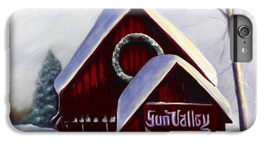 Landscape IPhone 6 Plus Case featuring the painting Sun Valley 3 by Shannon Grissom