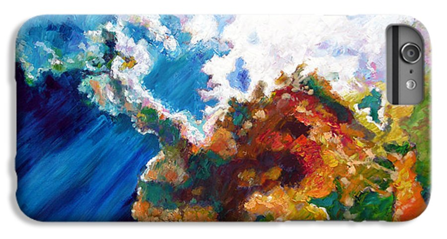 Sunburst IPhone 6 Plus Case featuring the painting Sunburst by John Lautermilch