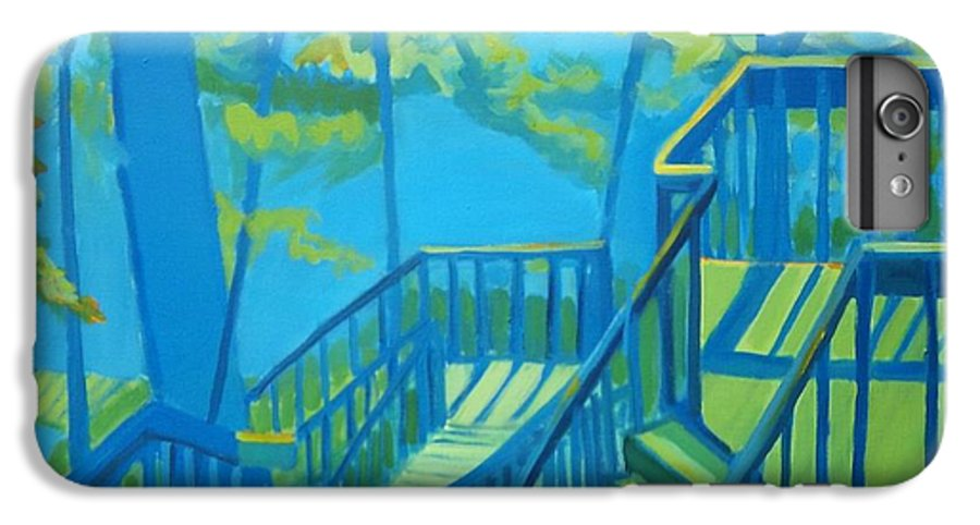 New Hampshire IPhone 6 Plus Case featuring the painting Suncook Stairwell by Debra Bretton Robinson