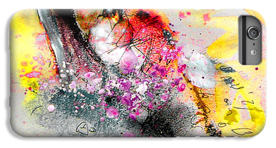 Pastel Painting IPhone 6 Plus Case featuring the painting Sunday By The Tree by Miki De Goodaboom