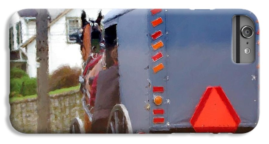 Amish IPhone 6 Plus Case featuring the photograph Sunday Courting by Debbi Granruth