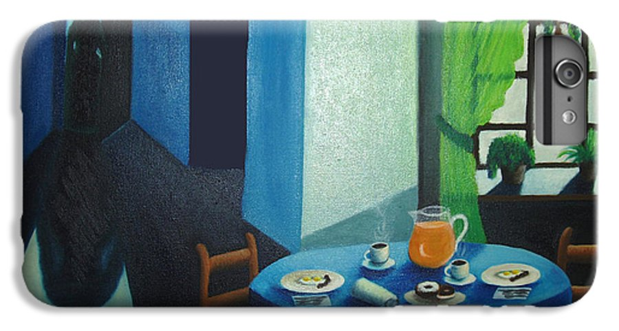 Breakfast IPhone 6 Plus Case featuring the painting Sunday Morning Breakfast by Nancy Mueller