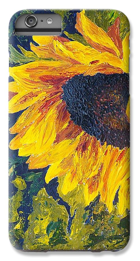 IPhone 6 Plus Case featuring the painting Sunflower by Tami Booher