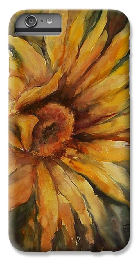 Sunflower IPhone 6 Plus Case featuring the painting Sunflower by Virginia Potter