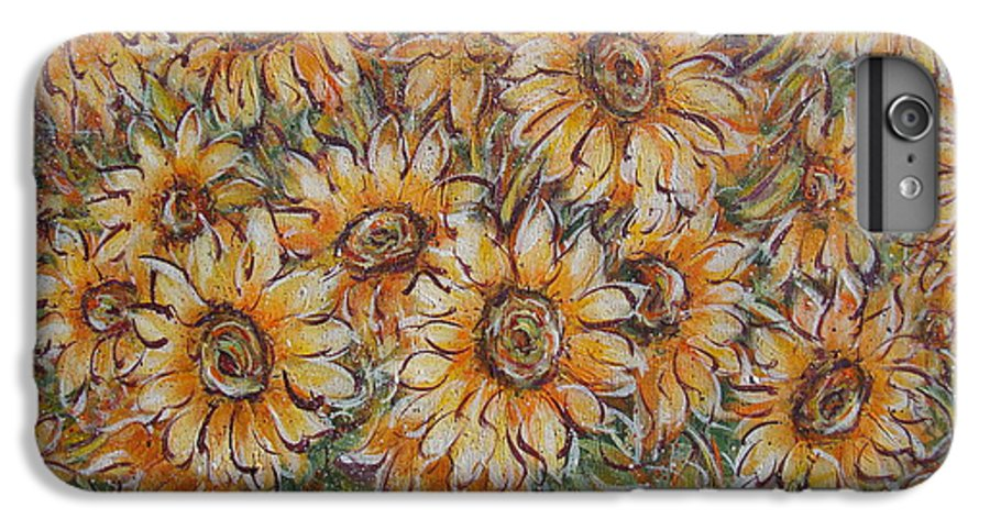 Flowers IPhone 6 Plus Case featuring the painting Sunlight Bouquet. by Natalie Holland