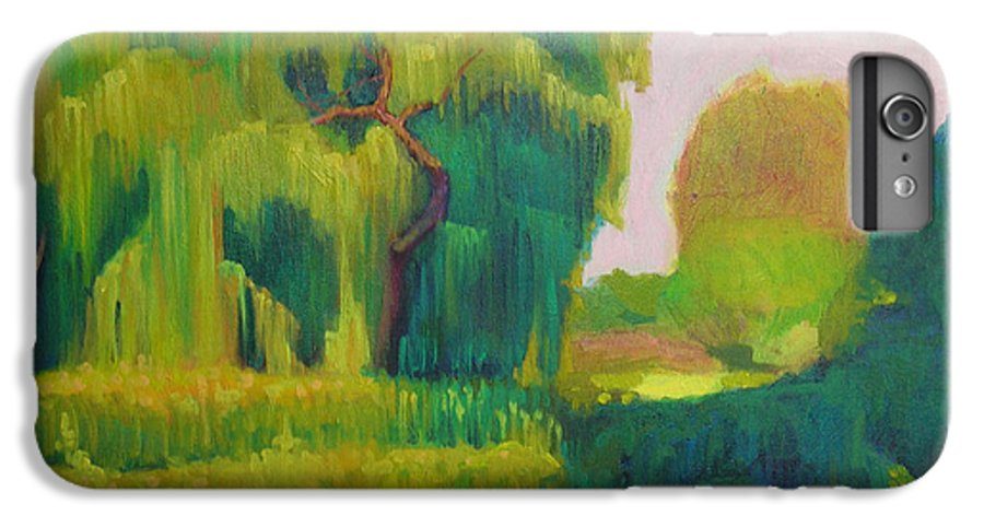 Landscape IPhone 6 Plus Case featuring the painting Sunny Day Indian Boundary Park by David Dozier
