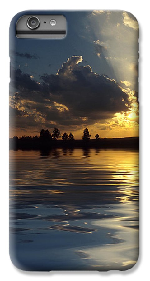 Sunset IPhone 6 Plus Case featuring the photograph Sunray Sunset by Jerry McElroy