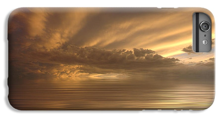 Sunset IPhone 6 Plus Case featuring the photograph Sunset At Sea by Jerry McElroy