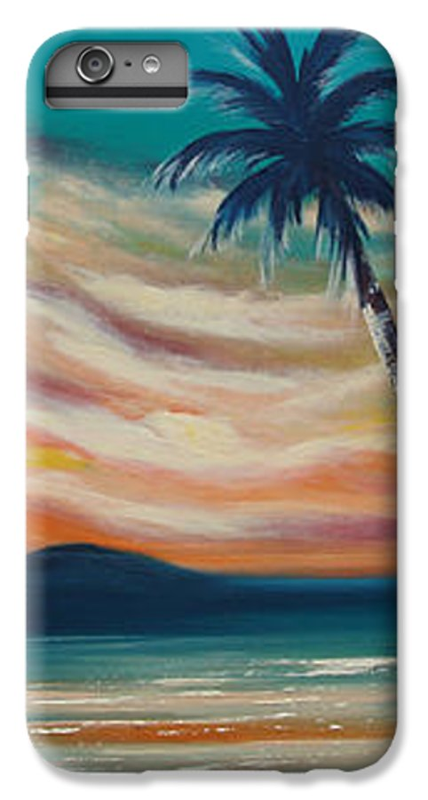 Sunset IPhone 6 Plus Case featuring the painting Sunset In Paradise by Gina De Gorna
