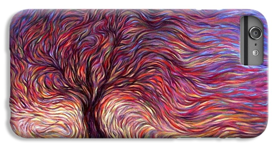 Tree IPhone 6 Plus Case featuring the painting Sunset Tree by Hans Droog