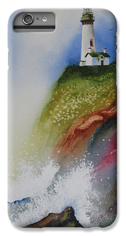 Lighthouse IPhone 6 Plus Case featuring the painting Surfside by Karen Stark