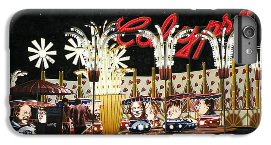Surreal IPhone 6 Plus Case featuring the painting Surreal Carnival by Dave Martsolf