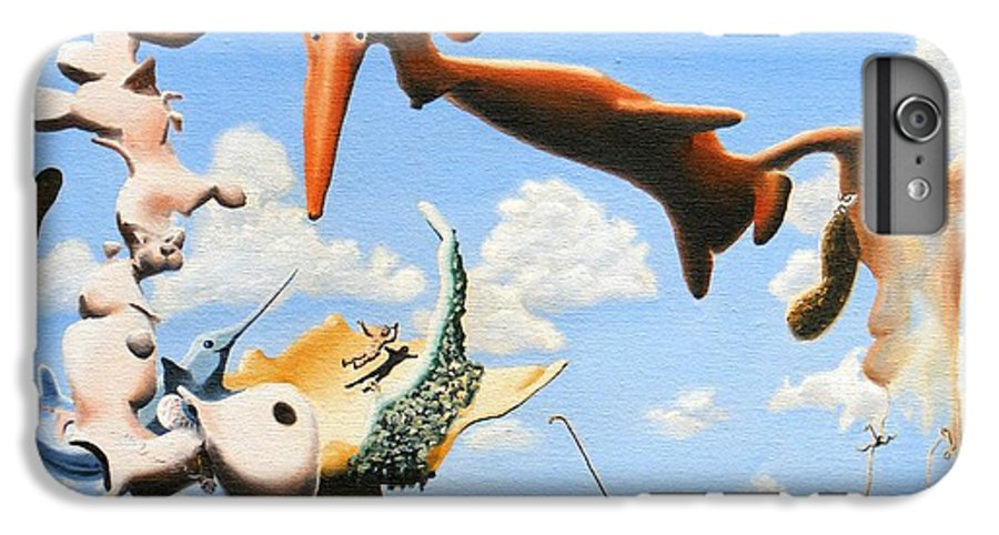 Surreal IPhone 6 Plus Case featuring the painting Surreal Friends by Dave Martsolf
