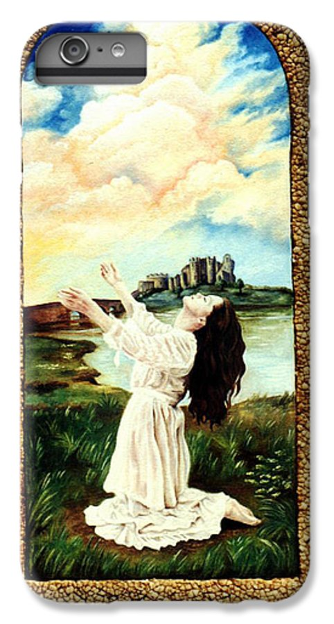 Christian IPhone 6 Plus Case featuring the painting Surrender by Teresa Carter