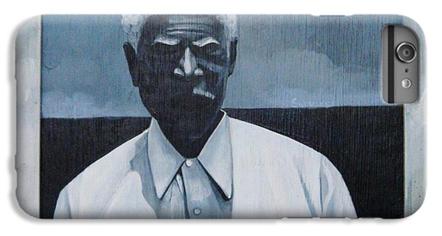 Man IPhone 6 Plus Case featuring the painting Survivor James by Joyce Owens