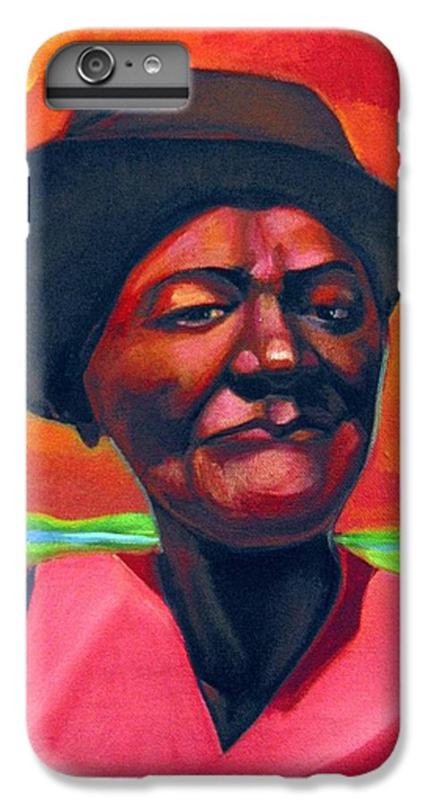 African IPhone 6 Plus Case featuring the painting Survivor Spirit Mollie by Joyce Owens