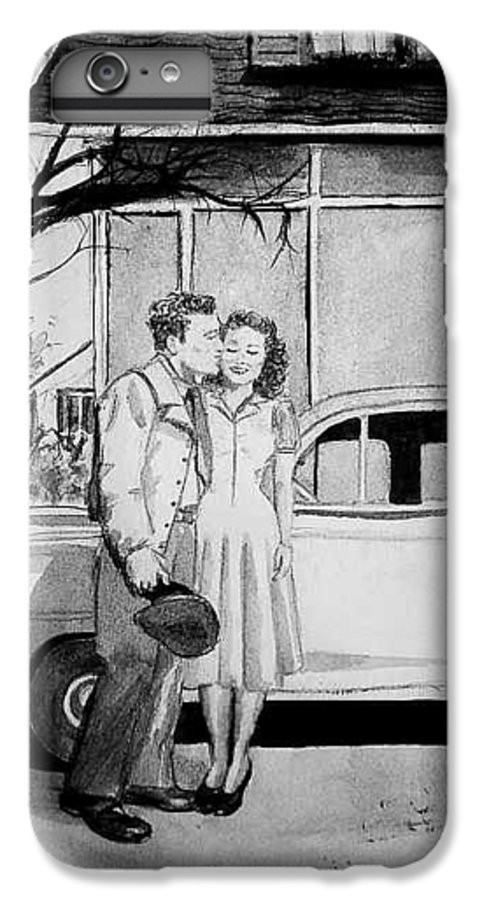 Couple IPhone 6 Plus Case featuring the painting Sweet Memory by Laura Rispoli