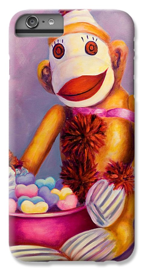 Heart IPhone 6 Plus Case featuring the painting Sweetheart Made Of Sockies by Shannon Grissom