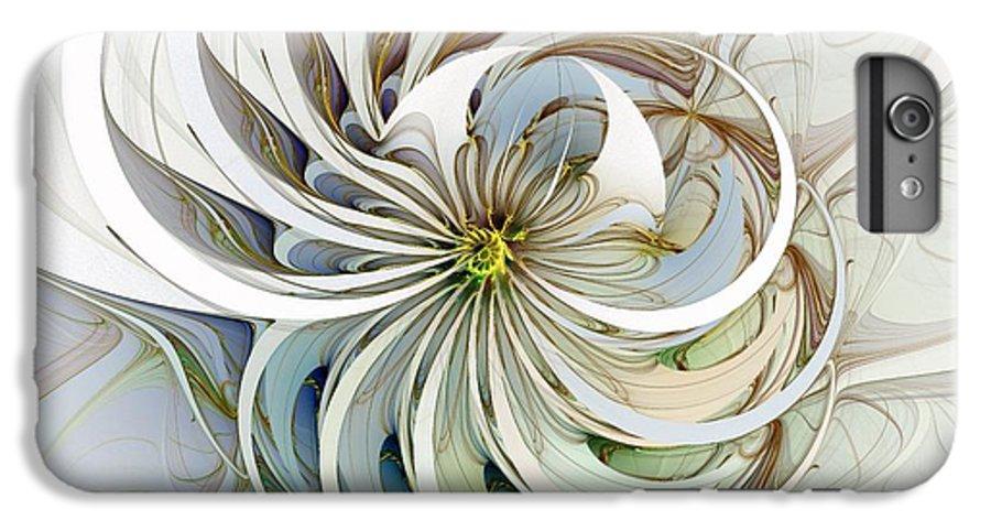 Digital Art IPhone 6 Plus Case featuring the digital art Swirling Petals by Amanda Moore
