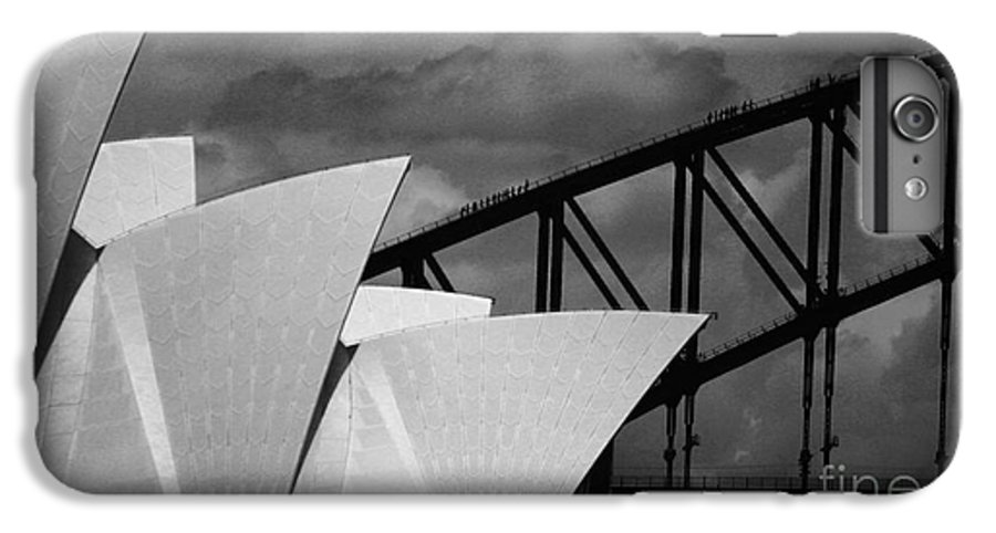 Sydney Opera House IPhone 6 Plus Case featuring the photograph Sydney Opera House With Harbour Bridge by Sheila Smart Fine Art Photography