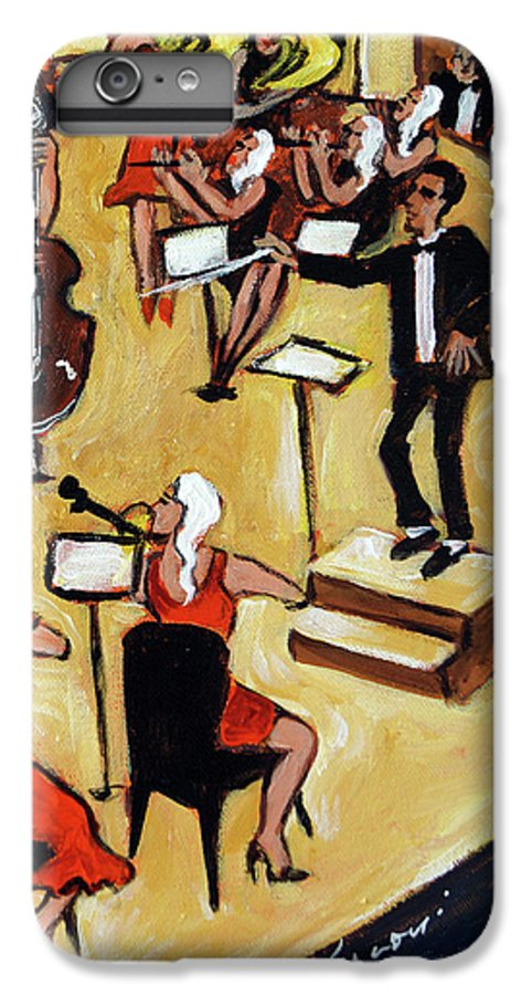 Carnegie Hall Orchestra IPhone 6 Plus Case featuring the painting Symphony by Valerie Vescovi