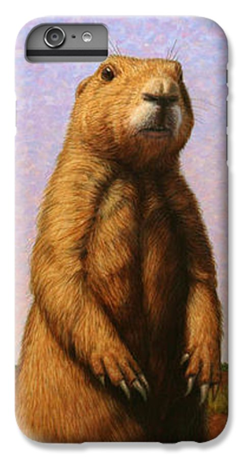 Prairie Dog IPhone 6 Plus Case featuring the painting Tall Prairie Dog by James W Johnson