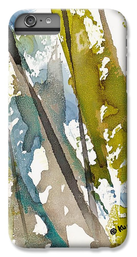 Forest IPhone 6 Plus Case featuring the painting Tall Timber by Susan Kubes