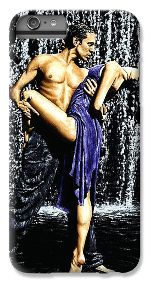 Tango IPhone 6 Plus Case featuring the painting Tango Cascade by Richard Young