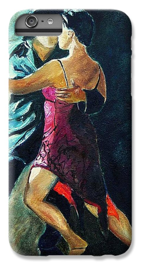 Tango IPhone 6 Plus Case featuring the painting Tango by Pol Ledent