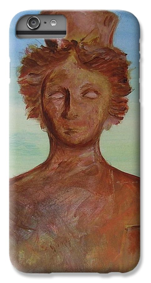 Icon IPhone 6 Plus Case featuring the painting Tanit Mythical Godess Of Ibiza by Lizzy Forrester