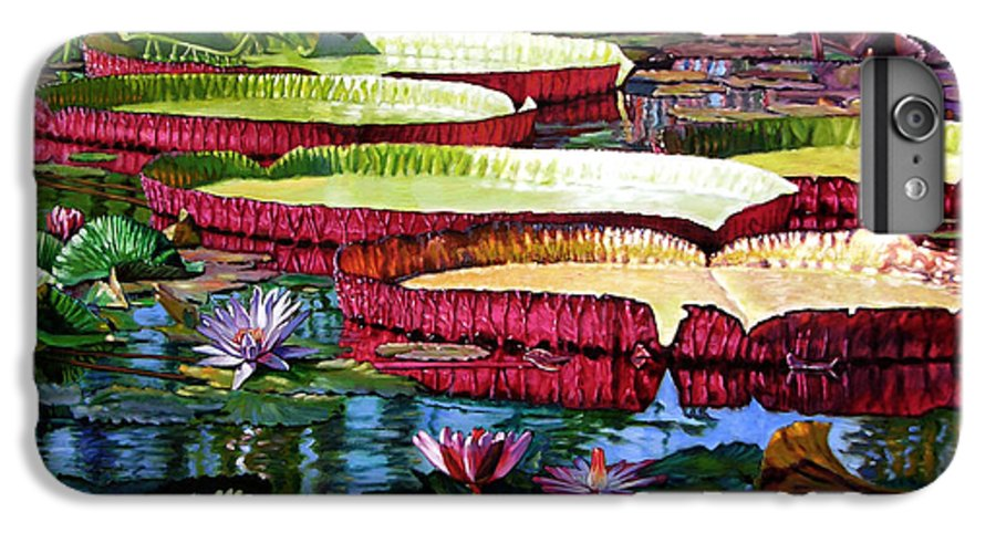 Landscape IPhone 6 Plus Case featuring the painting Tapestry Of Color And Light by John Lautermilch