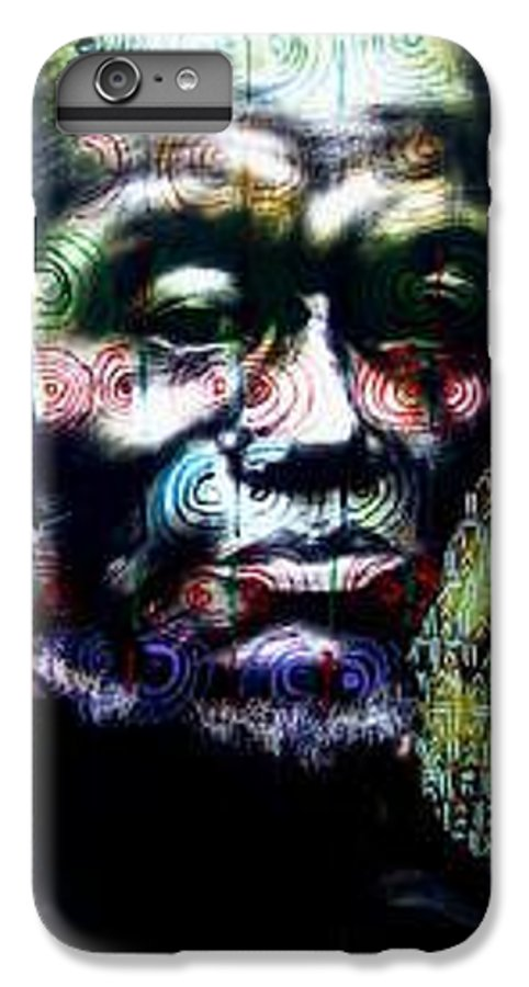 Portrait IPhone 6 Plus Case featuring the mixed media Tattoo by Chester Elmore