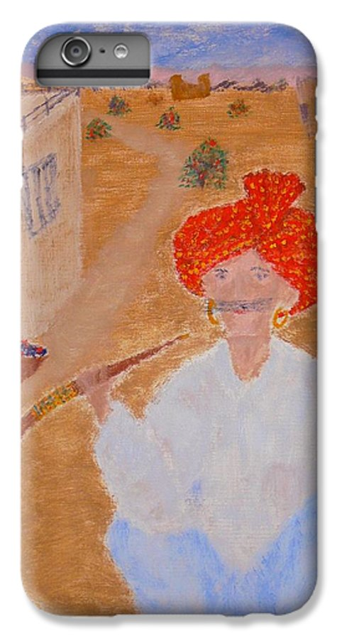 People IPhone 6 Plus Case featuring the painting Tau by R B