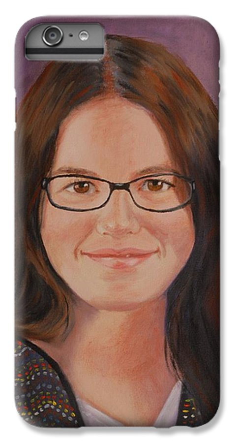 Portrait IPhone 6 Plus Case featuring the painting Taylor Snow by Quwatha Valentine