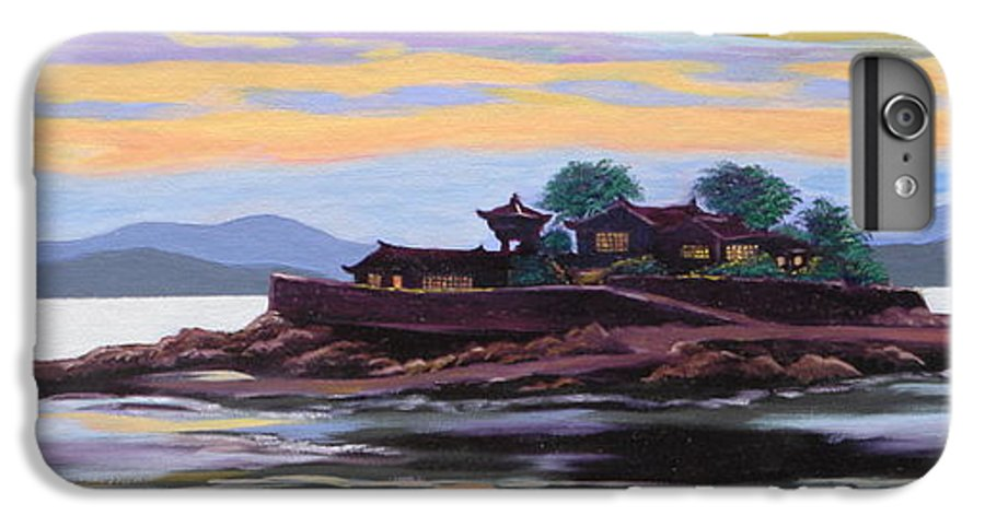 Temple IPhone 6 Plus Case featuring the painting Temple At Dust by Tan Nguyen
