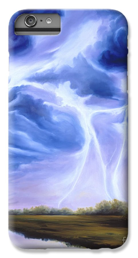 Marsh IPhone 6 Plus Case featuring the painting Tesla by James Christopher Hill