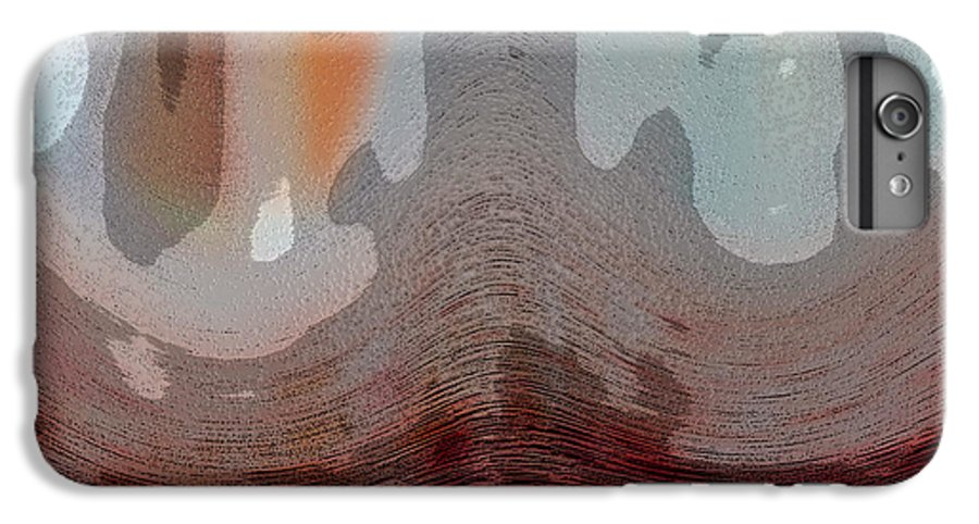 Abstracts IPhone 6 Plus Case featuring the digital art Textured Waves by Linda Sannuti