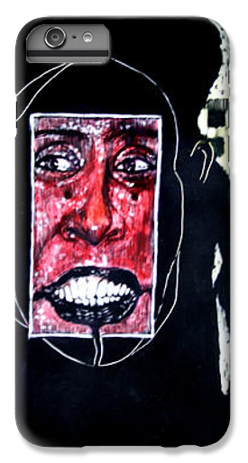 Smile IPhone 6 Plus Case featuring the mixed media That Certian Smile by Chester Elmore
