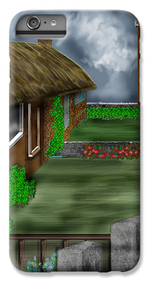 Cottages IPhone 6 Plus Case featuring the painting Thatched Roof Cottages In Ireland by Anne Norskog