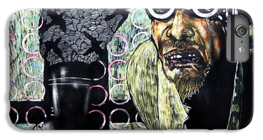 Scratchboard IPhone 6 Plus Case featuring the mixed media The Alchemist by Chester Elmore