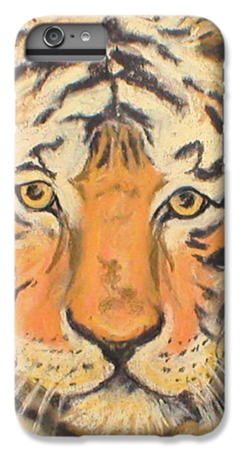 Pastel IPhone 6 Plus Case featuring the drawing The Amber Stare by Cori Solomon
