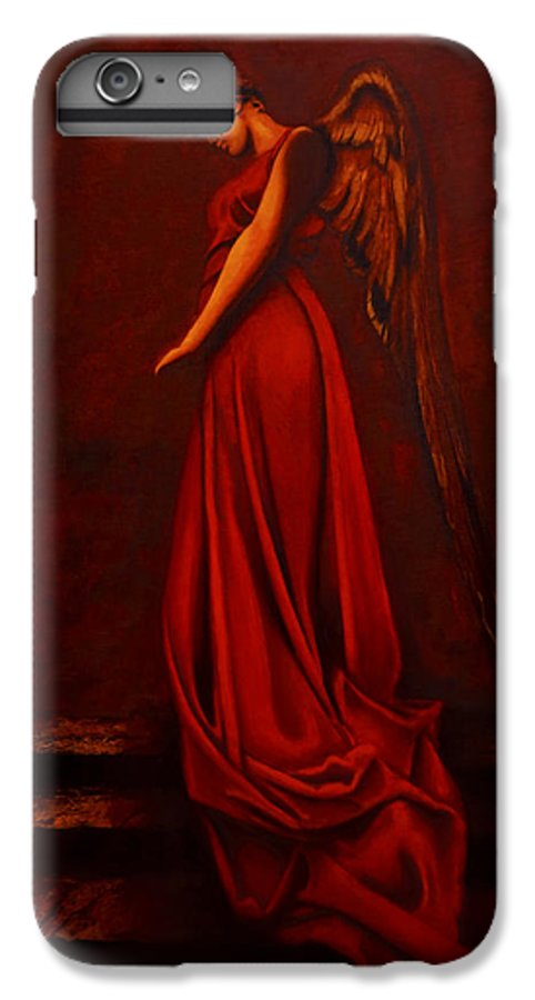 Giorgio IPhone 6 Plus Case featuring the painting The Angel Of Love by Giorgio Tuscani